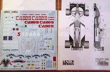 Stickers: 1/20 tab20078 1992 Williams fw14b whole sheet