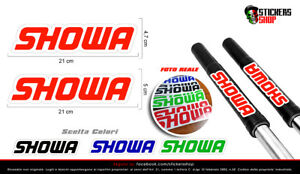 Adesivi forcelle showa, stickers logo showa forcelle copriforcella stickers
