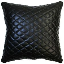 Genuine Lambskin Leather Cushion Cover Quilted Cut Soft Throw Pillow Cover Case