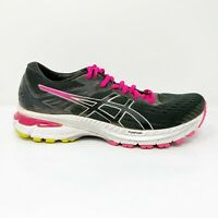 Asics Womens GT 2000 9 1012A859 Graphite Grey Black Running Shoes Lace Up Sz 8.5