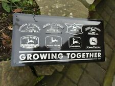 JOHN DEERE Growing Together - Official LARGE Metal Wall Sign - 19.75 inches wide