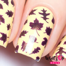 Leaves Stencils for Nails, Autumn Fall Nail Stickers, Nail Art, Nail Vinyls