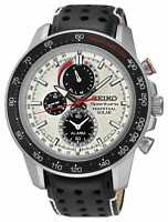 Seiko Sportura Solar Powered Perpetual Alarm Chronograph Men's Watch SSC359P1