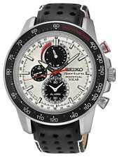Seiko Sportura Solar Powered perpetuo Alarma Cronógrafo Reloj de hombre SSC359P1