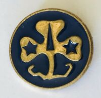 Girl Guides Retro Clover Symbol Club Authentic Pin Badge Rare Vintage (G11)