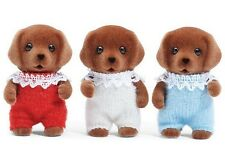 Calico Critters Calico Critters CHOCOLATE Poseable Lab Triplets ~NEW~