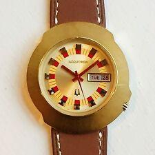 Vintage 1971 Bulova Accutron SPUTNIK 218 2182 Electronic Watch Gold SERVICED