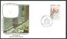 1980 VATICANO VIAGGI DEL PAPA BRASILE SAN PAOLO - RM1