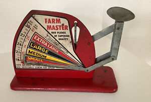 Very Vintage Metal Farm Master Working Egg Scale Balance Antique Metal Sign
