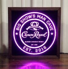 Crown Royal Whisky LED Sign Personalized, Home bar pub Sign, Lighted Sign, cave