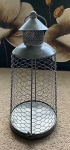 Signature Homestyles Chicken Wire Lantern WR375 NIB Metal Pillar Holder