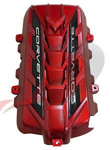 2020 2021 Chevrolet C8 Corvette Genuine GM Engine Cover Edge Red 12697368
