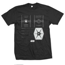 Official Star Wars - Tie Fighter Design Motif T-Shirt