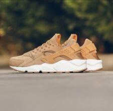 New Men's Nike Air Huarache Running Shoes 318429 Flax Gum Brown Size 11.5 NIB
