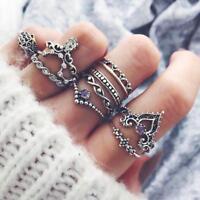 10 Teile / satz Retro Pfeil Mond Midi Finger Knuckle Ring Boho Modeschmuck U1Y1