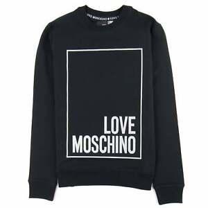 Love Moschino Slim Fit Long Sleeve Sweatshirt/_Net And Tape Logo Felpa Uomo