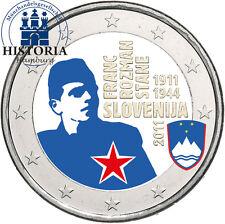 Slowenien 2 Euro 2011 bfr. Franc Rozman Stane in Farbe