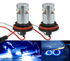 Fit BMW Canbus No Error Angel Eye E92 H8 HALO RING 6W LED Blue Light Bulbs I9