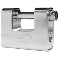 ABUS Padlock Monoblock 80mm High Security Padlock -Shipping Container-FREE POST