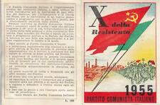 A1236) BOLOGNA, TESSERA 1955 PARTITO COMUNISTA, CELLULA SATULLI SEZIONE MUZZI.