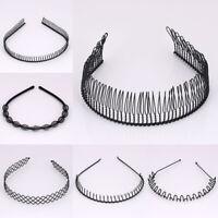 Unisex Men Women Black Metal Hair Hoop Headband Hairpins Hairband Accessories