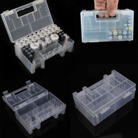 Hard Transparent Plastic Battery Case Holder Storage Box for AA/AAA-Batteries