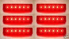 6 pièces SET 12V SMD 6 LED ROUGE FACE ARRIÈRE FEUX DE POSITION CAMION REMORQUE