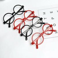 Kids Childrens Round Shape Black Or Red Glasses Frames Party Christmas Gifts