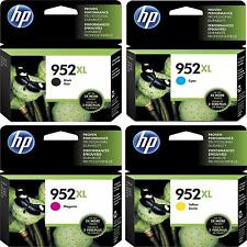 4-PACK HP GENUINE 952XL Black & Color Ink (NO RETAIL BOX) for OFFICEJET PRO 8740