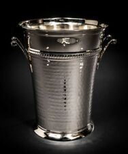 Elegant Brass Champagne Bucket - Hammered Wine Bottle Cooler - Large Ice Bucket