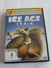 Ice Age 1 + 2 + 3 + 4 - Exklusive Box + Scrat Bonus Disc - DVD