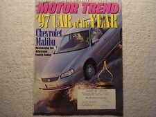 Motor Trend 1997 January Malibu Camry Taurus Accord Monte Carlo Muscle Trucks