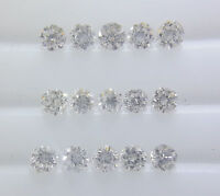 100% Real Natural Diamond 2.5mm Loose 15pc 0.96cts VS-SI Clarity G-H Color Round