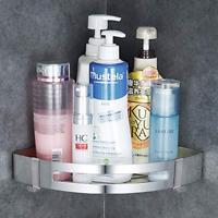 Bathroom Chrome Shower Shelf Wall Shower Caddy Corner Stainless Steel Self NEW