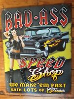 Speed Shop Sign Classic Hot Rod Rustic Vintage Metal Advertising Tin New USA