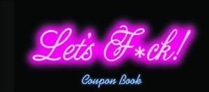 LET'S F*CK! XXX COUPON Book | ADULT Sex Vouchers for Couples | Fast Delivery