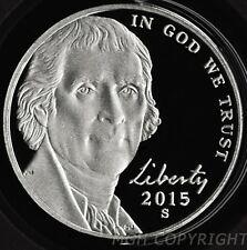 2015 S Proof Jefferson Nickel 5c Gem Deep Cameo from Mint Proof Set P17 / SW2