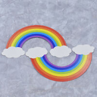5pcs Child Birthday Cake Rainbow Topper Decoration Cloud Party Supply Cute Baby