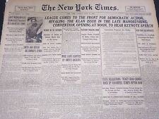 1924 JUNE 24 NEW YORK TIMES - CONVENTION OPENING AT NOON - NT 5068