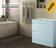 900mm Waterproof Unit and Basin Soft Close Doors Cabinet Unit High Gloss White