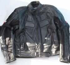 """Max MPH Leather Motorcycle Leather Jacket Size 48 - 44"""" Chest VGC"""