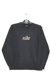NIKE 90'S VINTAGE EMBROIDERED CENTRE SPELL OUT SWEATSHIRT,RETRO,SIZE:SMALL
