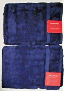 """2 - Opalhouse Perfectly Soft Bath Sheet Towel - Blue - 33"""" x 63"""""""