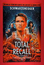 Total Recall Schwarzenegger Life is Just A Dream Art Movie Poster 24X36 New Tore