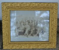 "Antique 20.5x 23"" Gold Gilded Picture Frame Wood Ornate Fine Art w/ Picture"