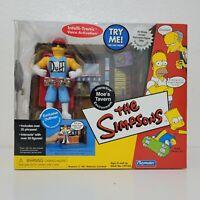 Playmates Simpsons MOES TAVERN PlaySet DUFFMAN Figure Interactive Environment