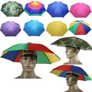 Damen Herren Sonnenschirm Hut Regenschirm Mütze Kopfbedeckung Fischer Anglerhuts