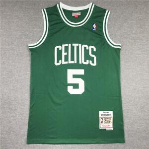 New Men's Kevin Garnett #5 Boston Celtics Throwback Swingman Jersey Green S-XXL