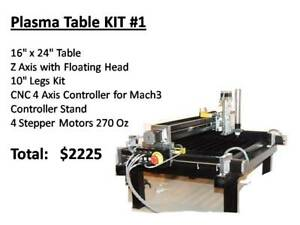 SMALL CNC PLASMA CUTTING TABLE 16 X 24 **SOLO-KIT-700**