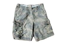 HOLLISTER Camo Distressed Cargo SHORTS Men's Size 31